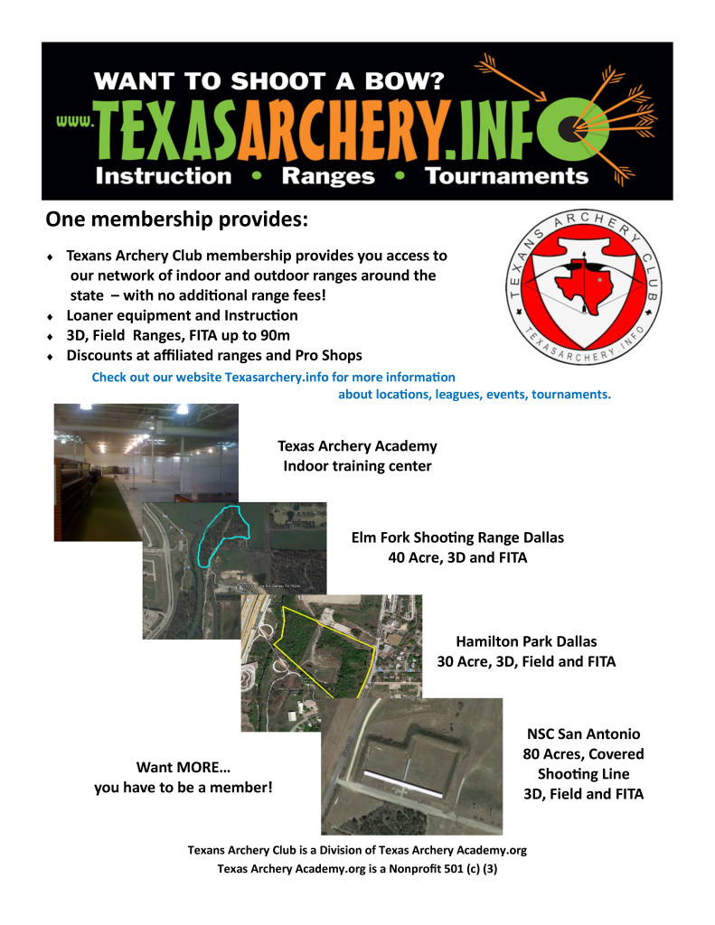 Texans archery club vers 3 Texas Archery Guide 2015