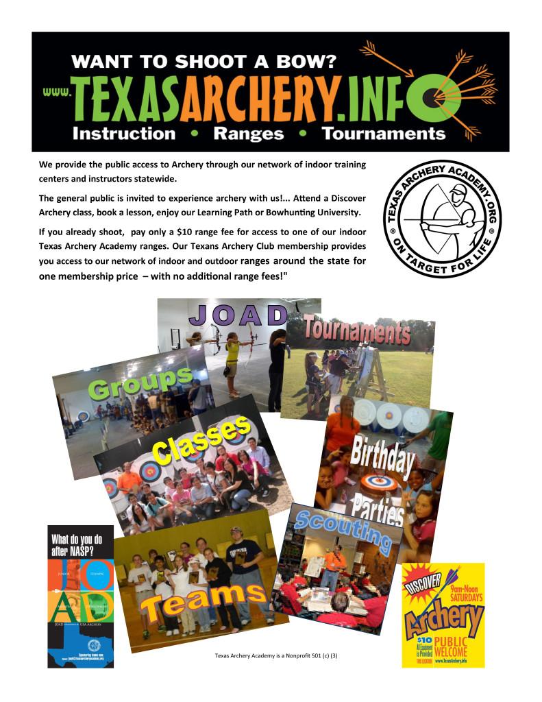 Making archery accessable ver 2 Texas Archery Guiden 2015